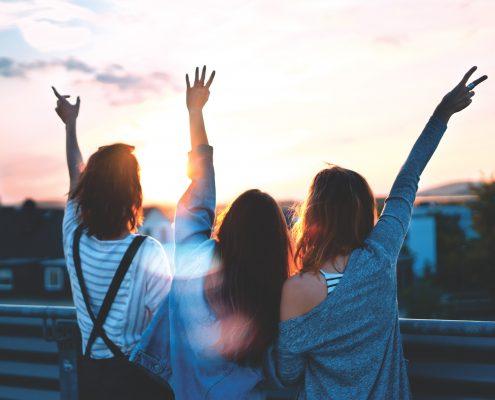 Photo of three friends